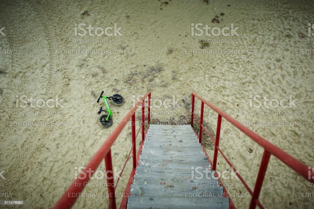 Strider run bike stock photo