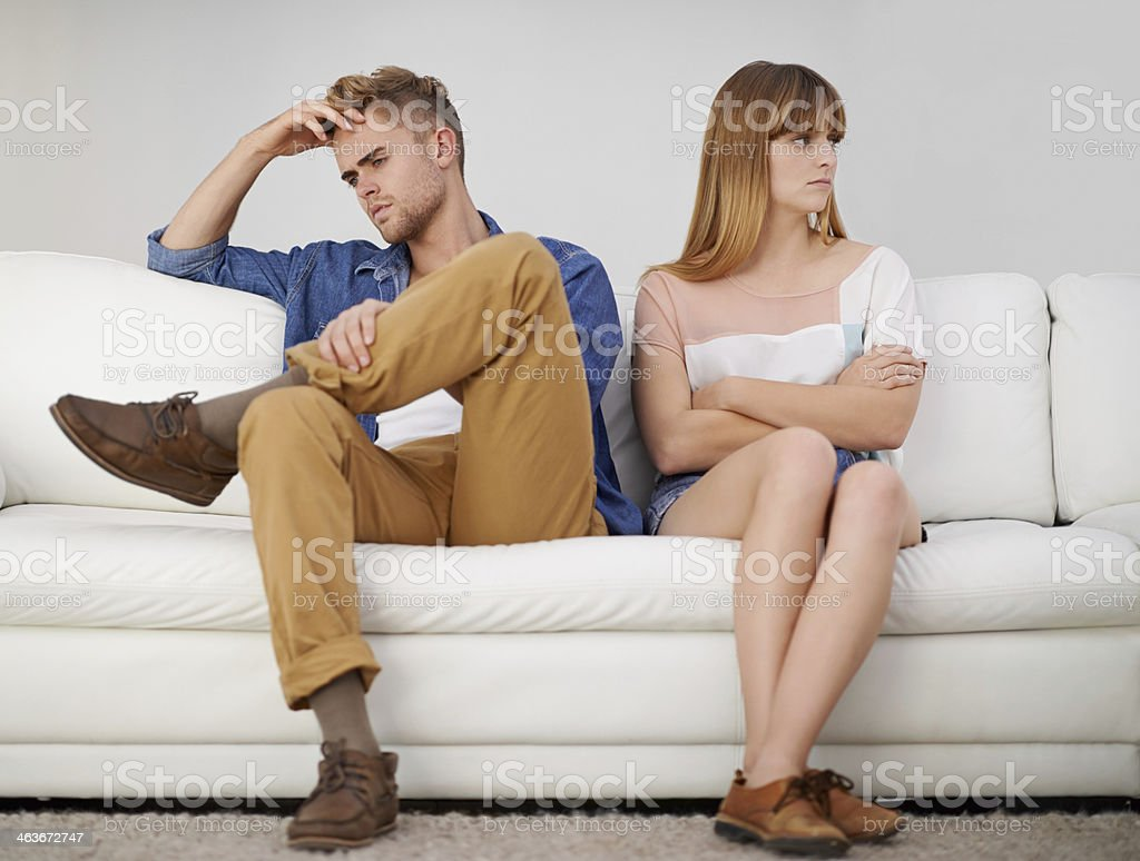 Strife and resentment in the relationship stock photo