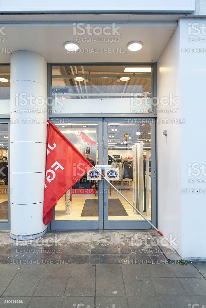 Strike in Belgium stock photo