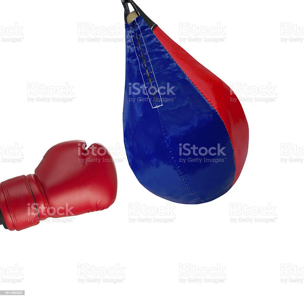 strike on a punching bag royalty-free stock photo