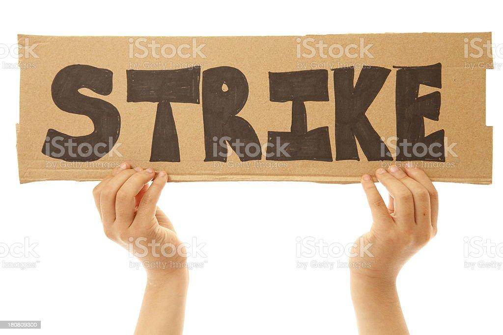Strike royalty-free stock photo