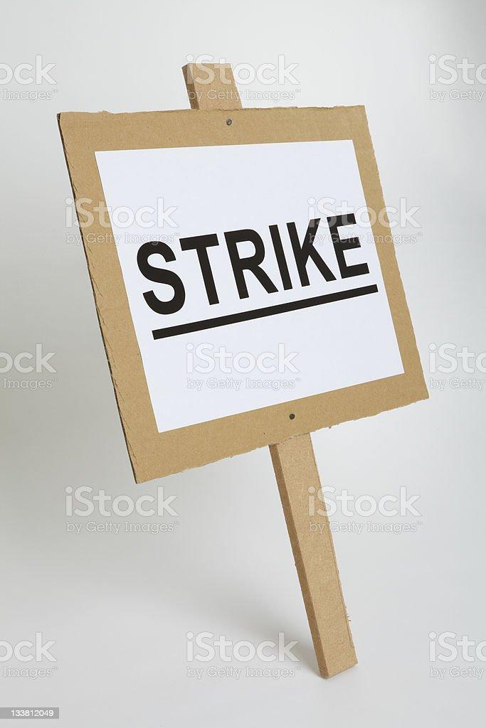 Strike Placard stock photo