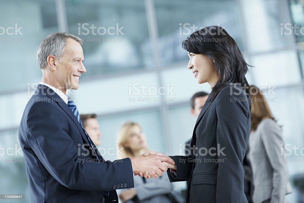 Striking a deal royalty-free stock photo