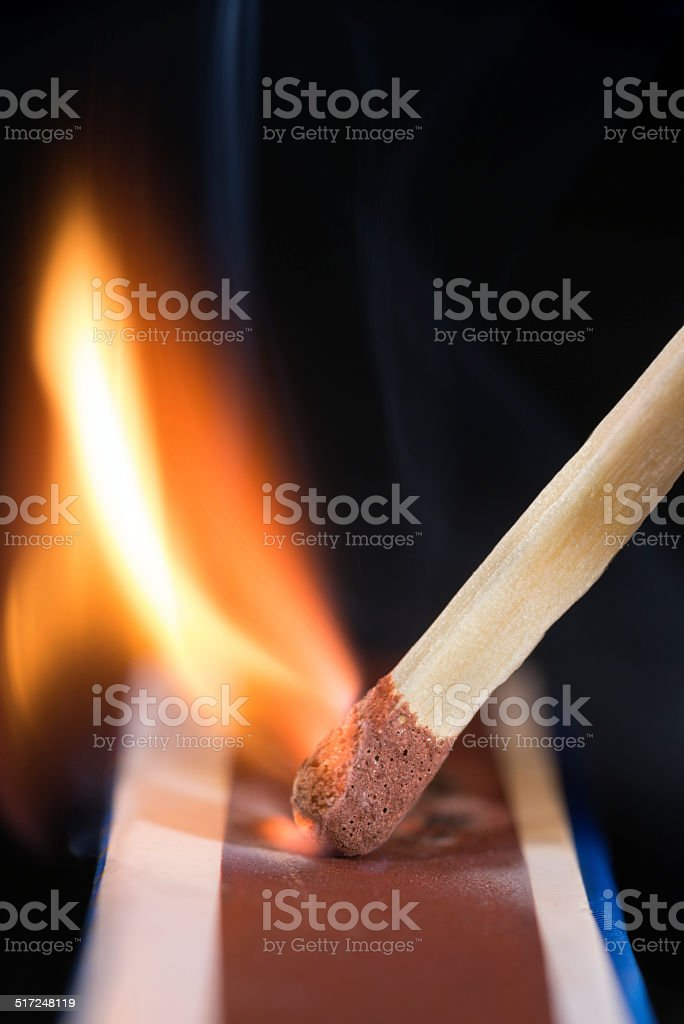 Striking a Match stock photo