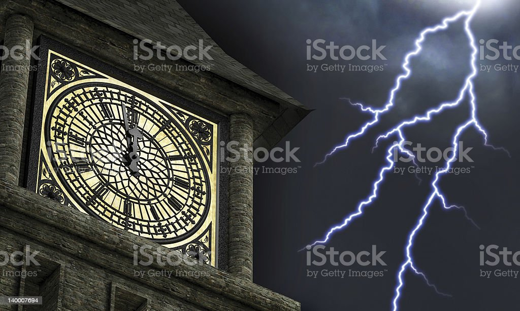 Striking Midnight stock photo
