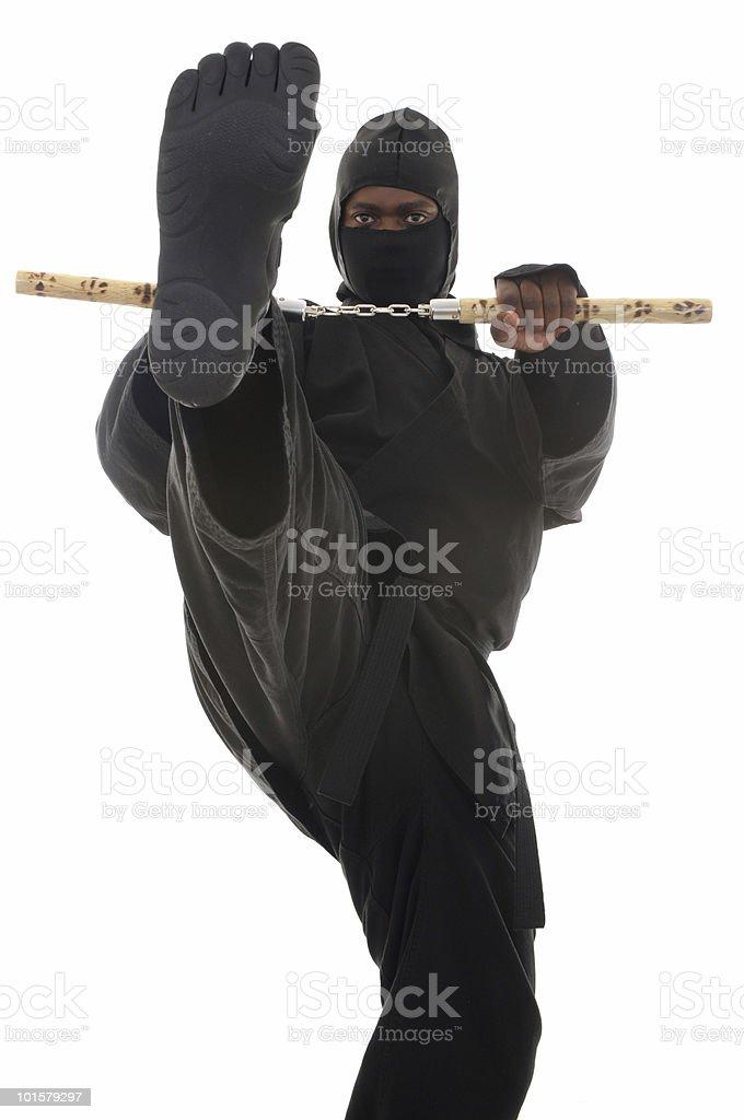 Striking ninja stock photo