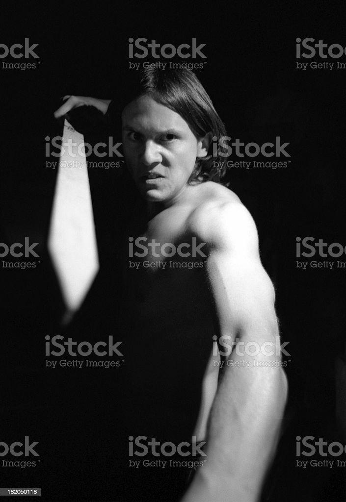 Striking Swordsman stock photo