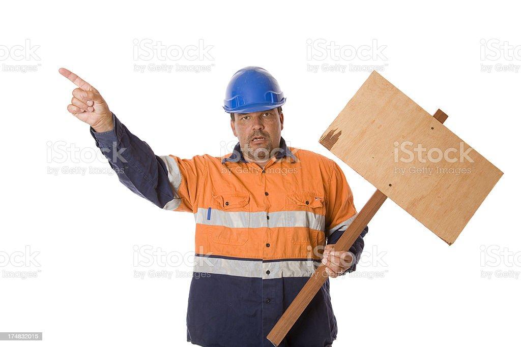 Striking Worker royalty-free stock photo