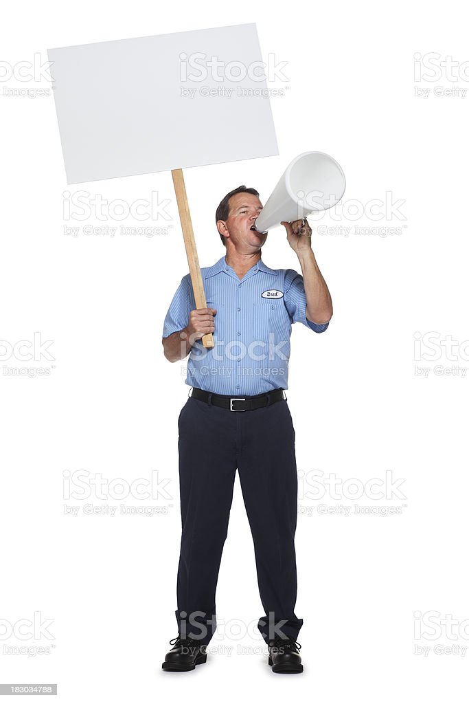 Striking Worker royalty-free stock photo