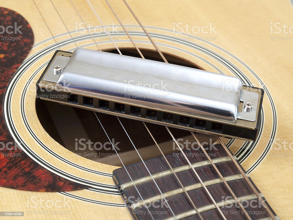 String and harmonica stock photo