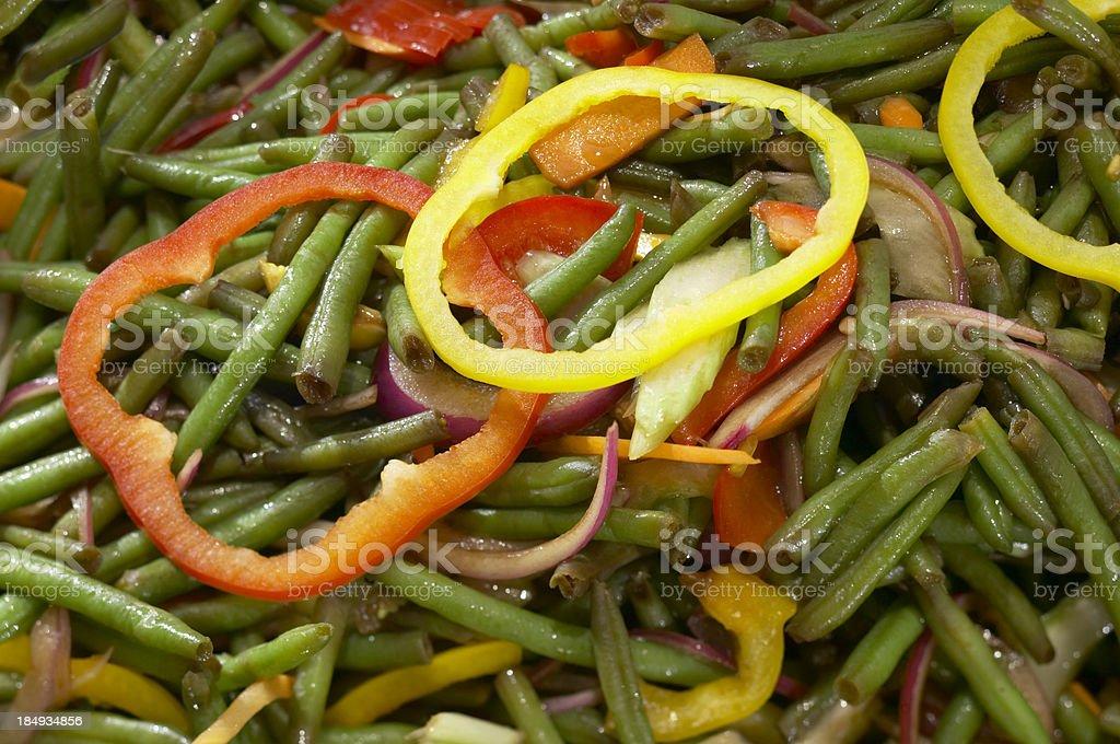 String beans salad stock photo