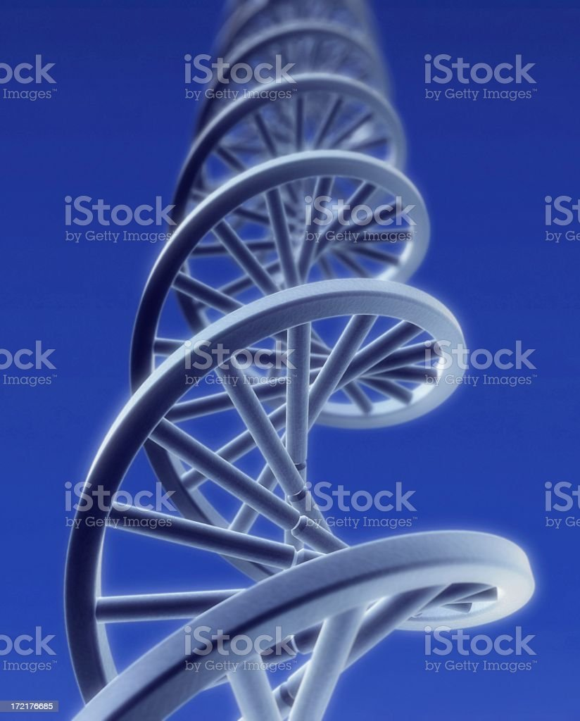 DNA string close-up stock photo
