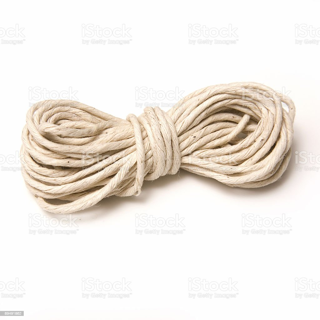 String isolated on a white studio background. stock photo