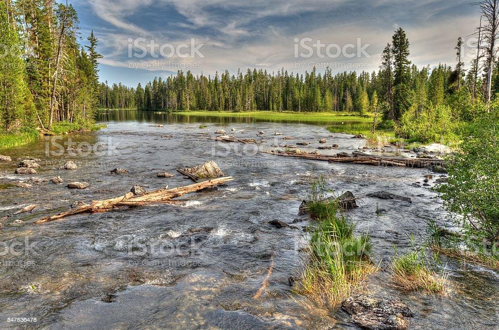 String Lake Grand Teton National Park stock photo