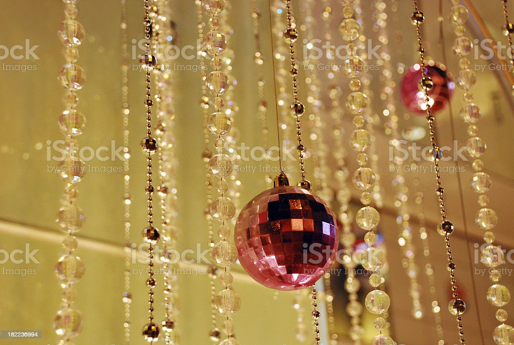 String of Christmas Ornament Decoration royalty-free stock photo