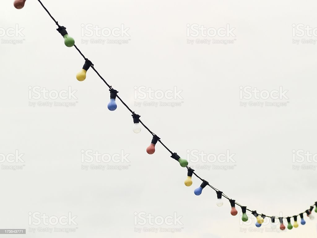 String of coloured lights stock photo