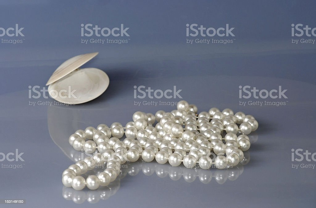 String of Pearls on Beach royalty-free stock photo