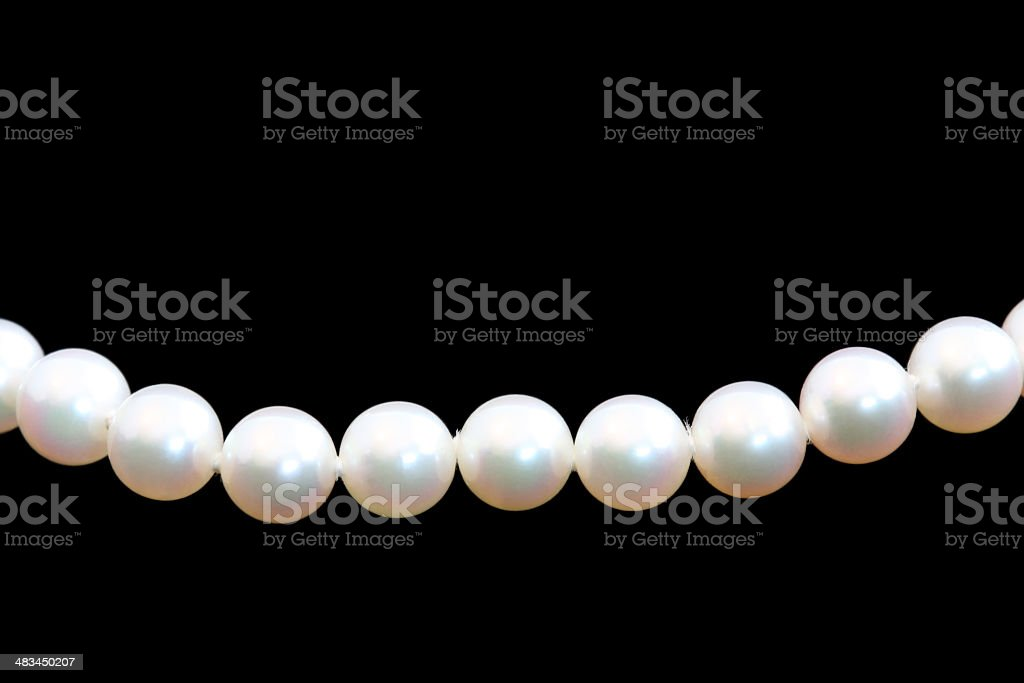 String of pearls stock photo
