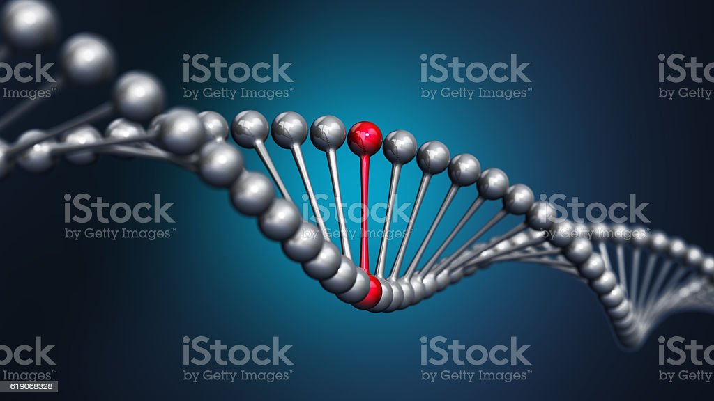 3D DNA string stock photo