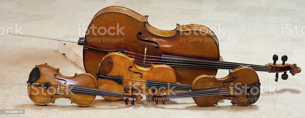 String quartet instruments stock photo