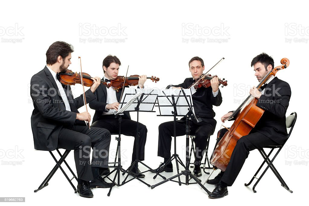String quartet stock photo