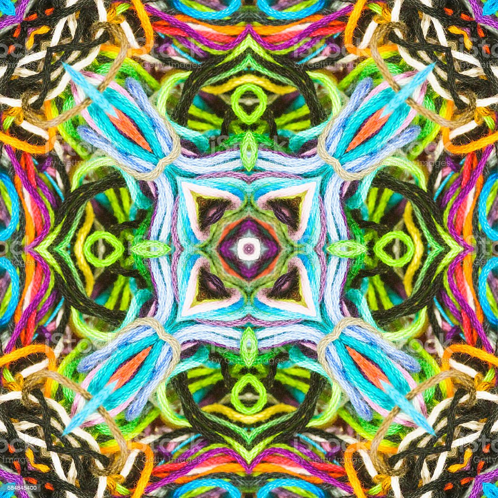 String Theory Mandala stock photo