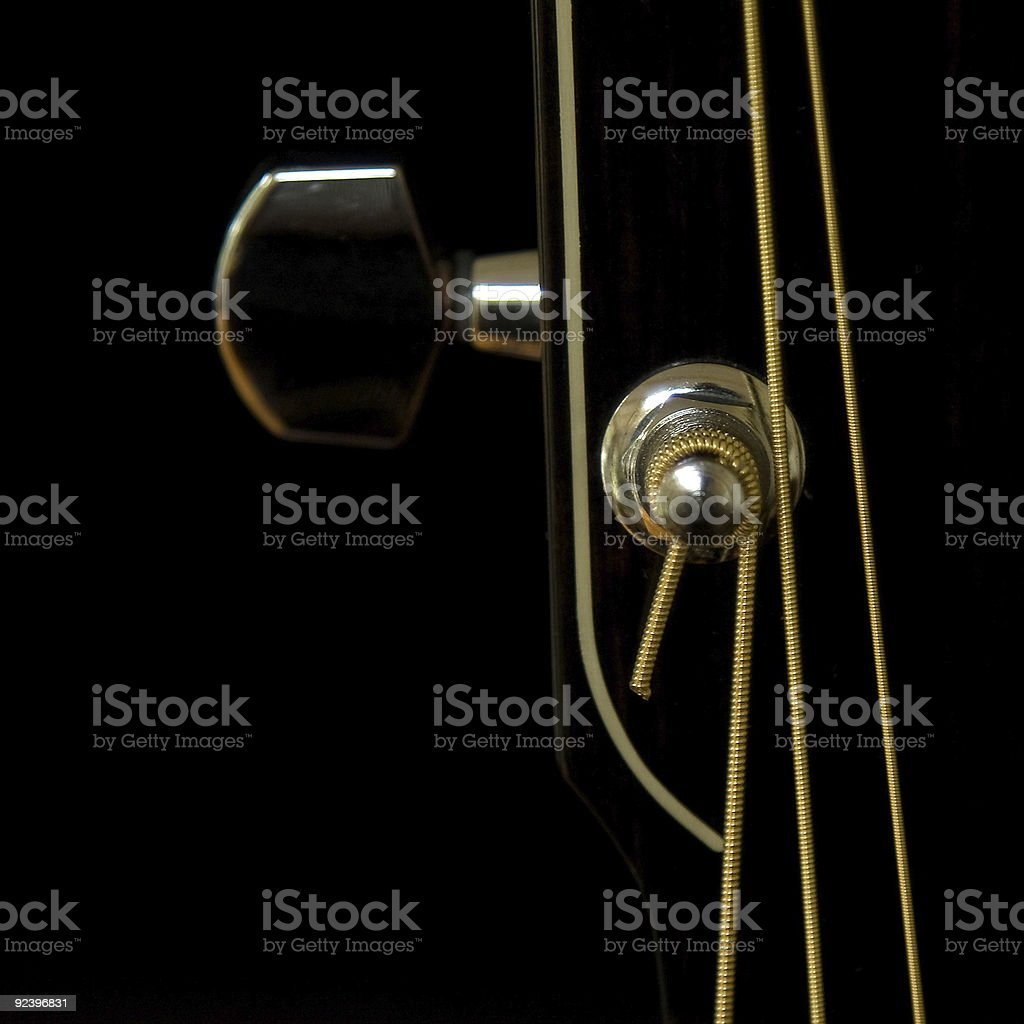 String tuner with black background stock photo