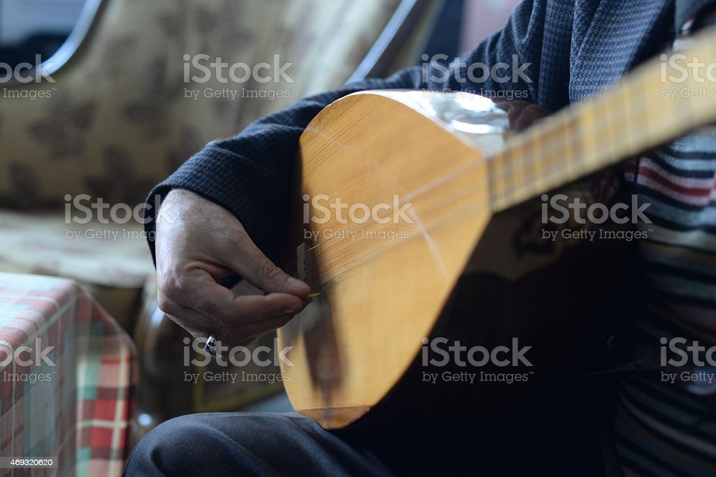 stringed instruments, Turkish stringed instruments stock photo