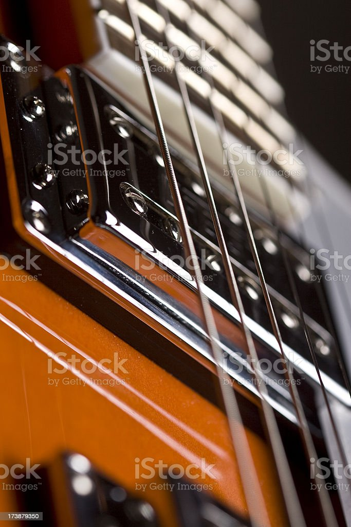 strings electric guitar stock photo