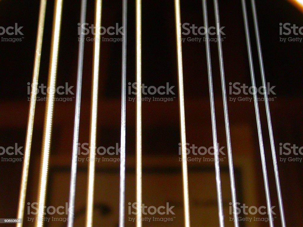 11 strings left stock photo