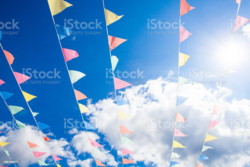 Strings of Bunting stock photo