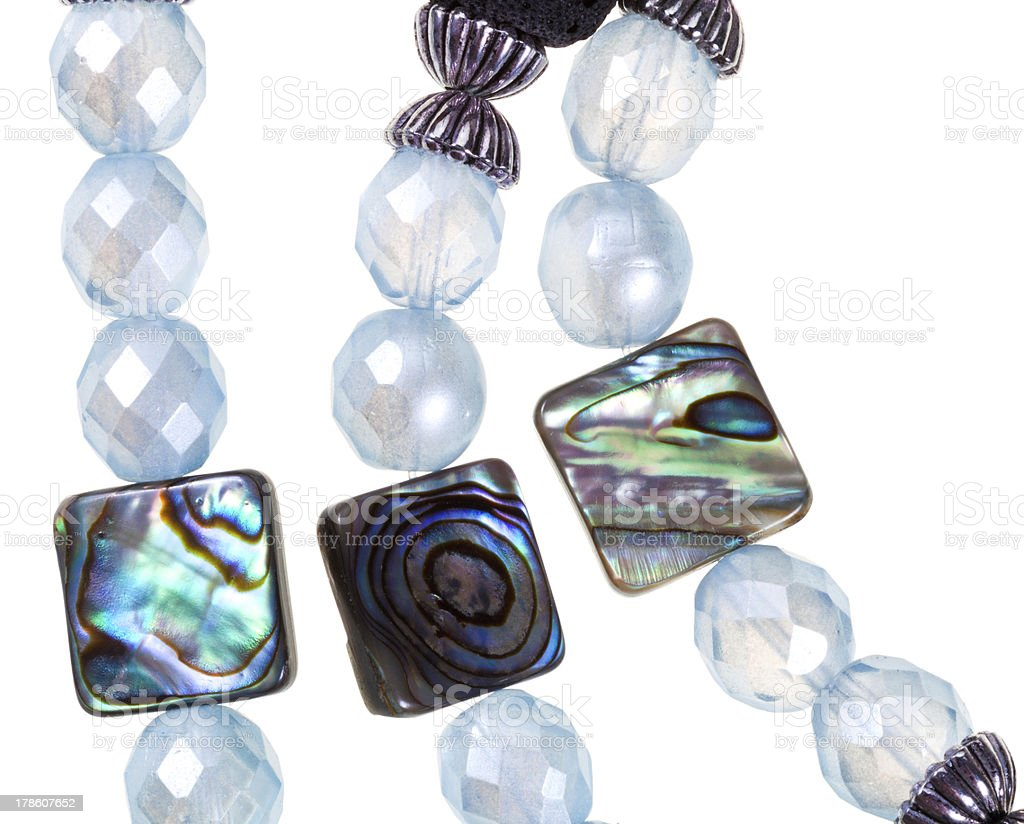 strings of handmade women necklace royalty-free stock photo