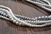 Strings of pearl beads