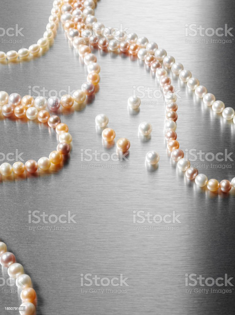 Strings of Pearls stock photo