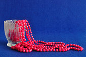 Strings of pink beads