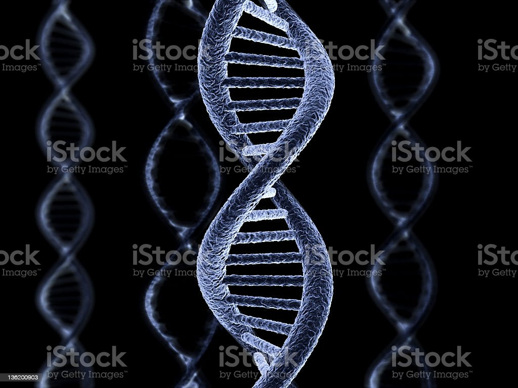 DNA strings royalty-free stock photo