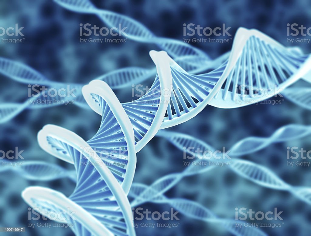 DNA strings stock photo