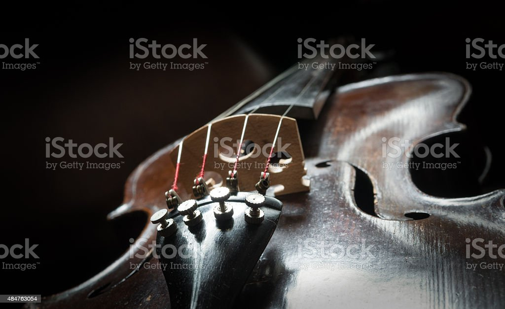 Strings Violin stock photo