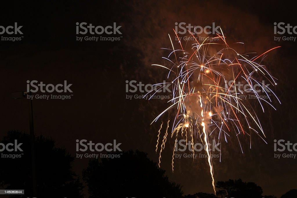 Stringy fuegos artificiales foto de stock libre de derechos