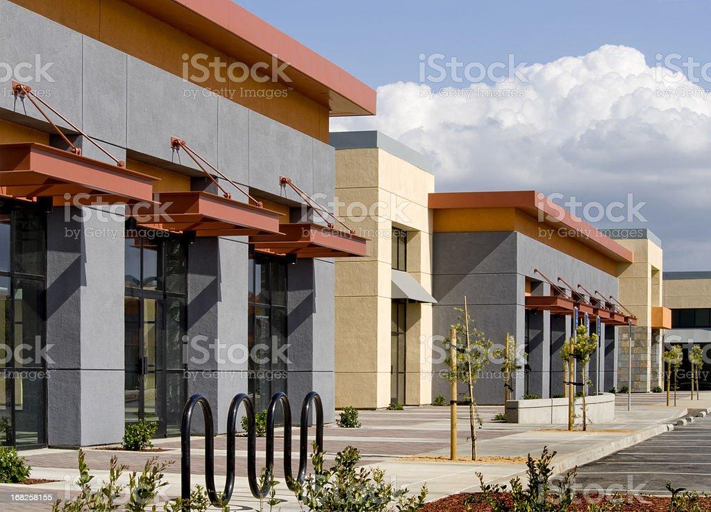 Strip Mall, California royalty-free stock photo