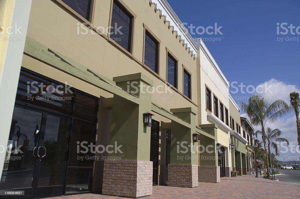 Strip Mall royalty-free stock photo