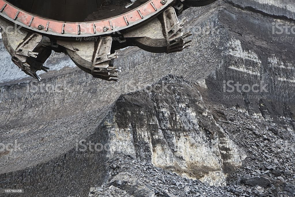 Strip mine royalty-free stock photo