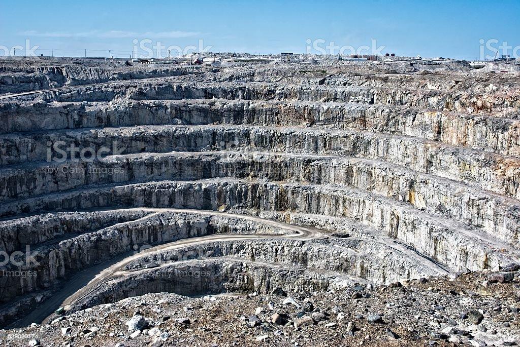 Strip mining in Canada's arctic. stock photo
