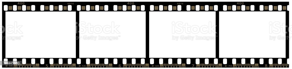 Strip of 35mm film stock photo