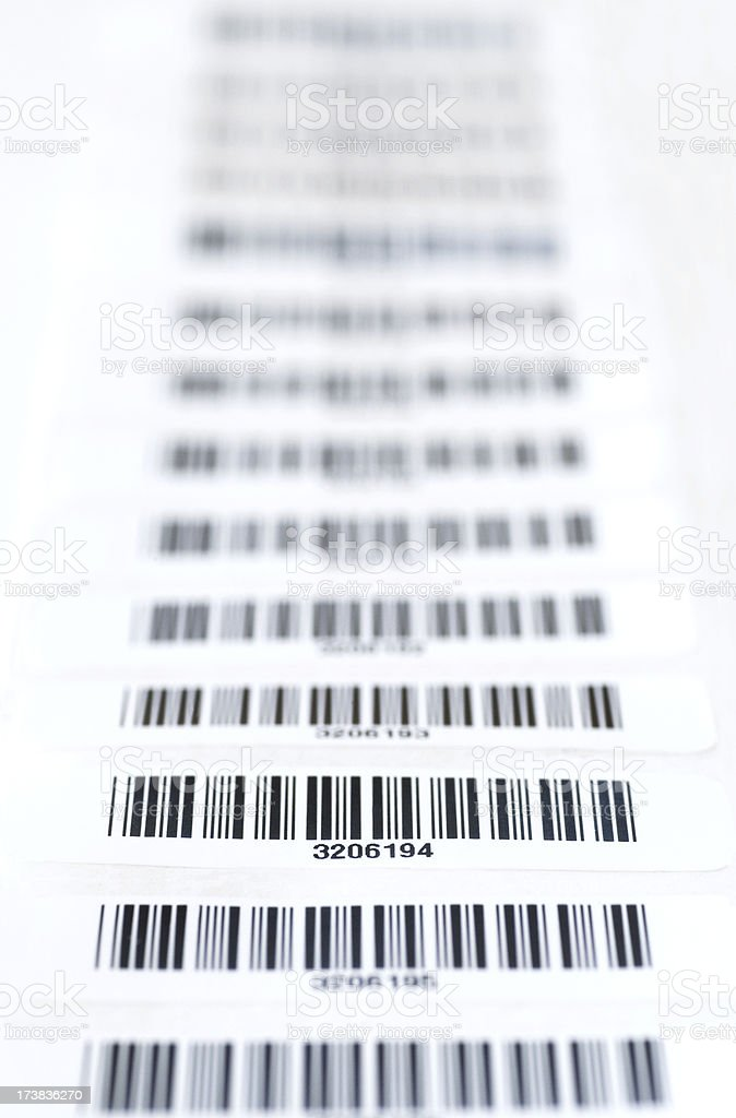Strip of Bar Codes royalty-free stock photo