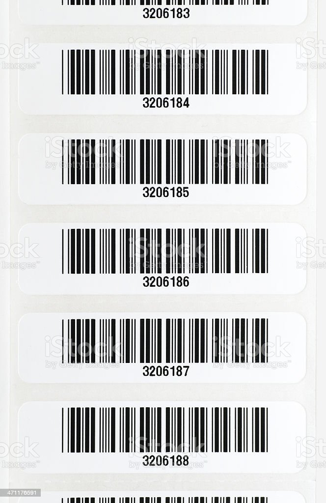 Strip of Bar Codes stock photo