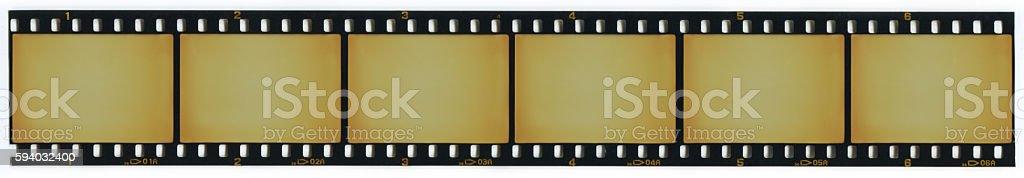 Strip of blank 35mm film frames foto stock royalty-free