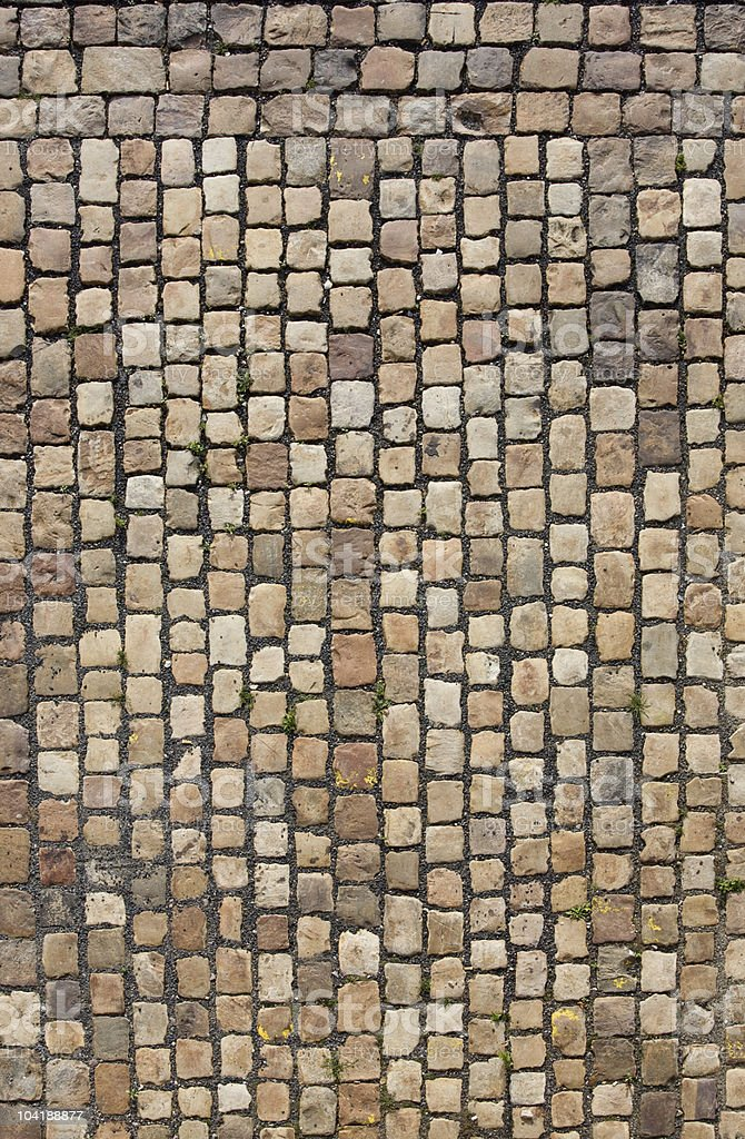 Strip of cobbled stones on a street royalty-free stock photo