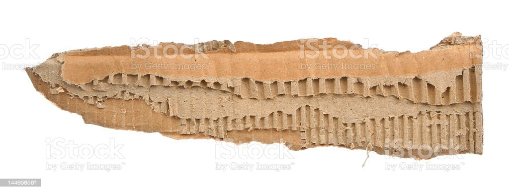 strip of torn out cardboard royalty-free stock photo