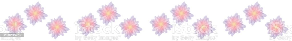 Strip of water color flowers stock photo
